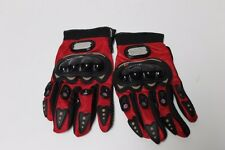 Red Pro Biker MotoCross Gloves MED Moto Sports Gear 20-22 cm 8-8 1/2  inch
