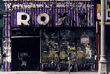 Roxy Art Deco Sign Hand Colored Photo Detroit decor gritty realism documentary