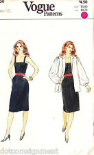 Vogue Patterns #8350 Misses Sleeveless Dress with Jacket Size 12 Uncut Vintage