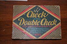 VINTAGE MILTON BRADLEY 1930 CHECK AND DOUBLE CHECK FAMILY GAME