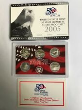 2005 SILVER STATE PROOF Set  Certificate of Authenticity Never opened