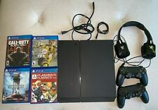 Sony PlayStation 4 500GB Console - 2 controllers + Kunai headset + 4 Games WORKS