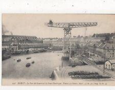 Brest Port De Guerre & Grue Electrique France Vintage Postcard 906a