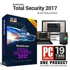 Bitdefender Total Security 2018 3 Users 1 Year Licence Key 100% GENUINE