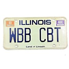 Illinois 1983 1984 Old License Plate Garage Man Cave Old Car Tag Rustic Decor