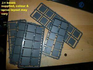 24 plastic square  bases 20mm x 20mm new