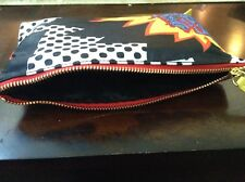 Brand New Sonia Kashuk Two-Zip Purse Kit Cosmetic Bag Fun Print Exterior