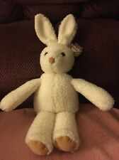 "Vtg NWT 1986 Gund Cream White Bunny Rabbit Sherpa Plush 15"" Stuffed Animal Toy"
