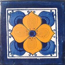 C#010) MEXICAN TILES CERAMIC HAND MADE SPANISH INFLUENCE TALAVERA MOSAIC ART