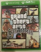 Grand Theft Auto (GTA) San Andreas (Xbox 360 / Plays on Xbox One / Series X) NEW
