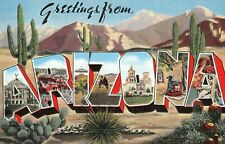 Large letter postcard Greetings from Arizona AZ