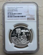 NGC PF70 UC China 1993 22g Silver Coin - Terracotta Army Discovery