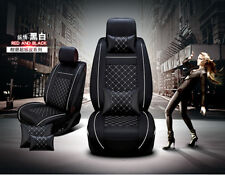 Deluxe Edition Auto Car Seat Cover Cushion 2 Front PU Leather w/Pillows Size M