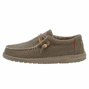 Hey Dude Men's Wally Natural Nut Cans Slip On Loafer