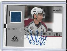 RAY BOURQUE 2001/2 UPPER DECK SP GAME USED INKED SWEATERS AUTOGRAPH # 14/100