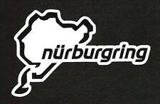 NURBURGRING Track Outline Sticker vintage inspired, German Sports Car Racing