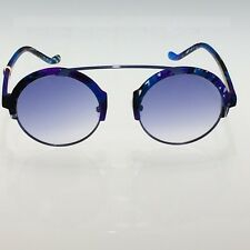 Les Pièces Uniques Milano Sunglasses - ROMEO col.54 Unisex - Blue colrful frame