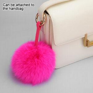MYBAT Cellphone Charm - Hot Pink Fox Fur Pom-Pom (Large) - WP