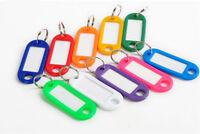 10Pcs Colorful Key Ring ID Sports Tags Keychain Name Card Label Luggage Random