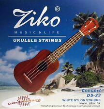"2 Juegos de Cuerdas Ukelele ZIKO DS-23 Ukeleles 23""-26""-27"""