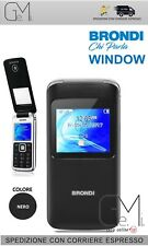 TELEFONO CELLULARE PER ANZIANI BRONDI WINDOW DUAL SIM FLIP ATTIVO ALTO VOLUME BK