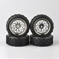 Tire Tyre  Wheel Set For 1/10 RC Rally Racing Off Road RC Car PP0487-BBSM 4pcs