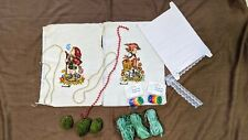 New listing Crafts Lot Embroidery Samples, Bead Necklaces, Big Buttons, Lace, Raffia, Fake M