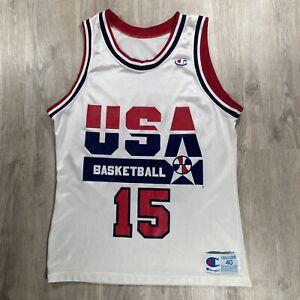 Vintage Champion Magic Johnson Jersey Dream Team USA RARE NBA White Size 40