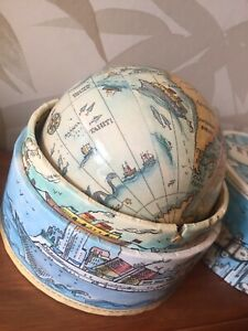 Traveler's World Spinning Globe In A Box Authentic Models Usa