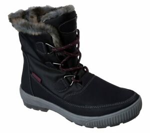 Skechers Woodland Womens UK 5 EU 38 Black Waterproof Fur Lined Winter Snow Boots