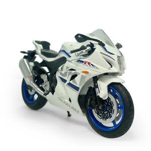 1:12 Scale Suzuki GSX-R1000 Motorcycle Model Diecast Sport Bike Toy Kids White