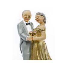 PF50 - Statuina Topper Anniversario 50 Anni Decorazione Matrimonio Nozze Cake De