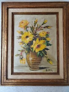 Beautiful Flower Painting by Leo Ritter