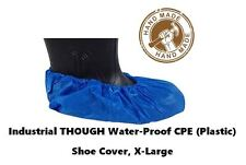 100 DISPOSABLE CPE INDUSTRIAL TOUGH SHOE COVERS X-LARGE TO SIZE 13 VALUE PRICE +