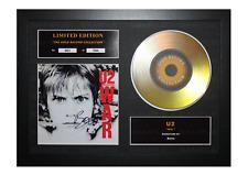 More details for u2 signed gold disc album ltd edition framed picture memorabilia