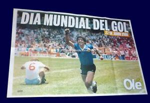 FIFA WORLD CUP Mexico 1986 - GOAL FROM MARADONA TO ENGLAND - Poster 85 x 55,5 cm