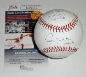BREWERS Paul Molitor signed STAT baseball w/ 10 Insc JSA COA AUTO Autographed