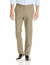 9211-2 Nautica Mens and Beige Slim Fit Flat Front Twill Chino Pants Sz 38W x 32L