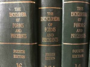 Encyclopedia of forms and precedents 4th Edition Complete Set