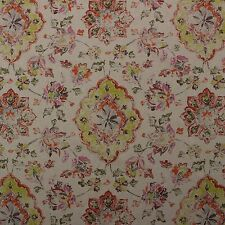 """P KAUFMANN RELIC FIESTA RED FLORAL IKAT DAMASK MULTIUSE FABRIC BY YARD 54""""W"""