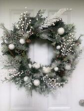 Winter Wreath 24 Inch Christmas Wreath Handmade