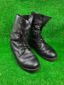 Austrian Army Heereseigentum Military Paratrooper Black Leather Boots EU44UK 10