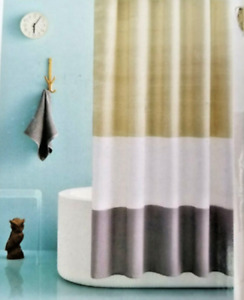 """Room Essentials Ombre Colorblock Shower Curtain 72"""" x 72"""" New in Package"""