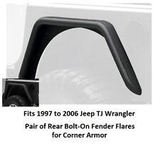 Jeep Rear Bolt-on Fender Flares for Corner Guards for 97-06 Jeep TJ Wrangler