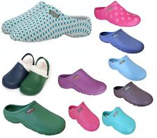 Town and Country Womens Gardening Clogs Patterned Lightweight Cloggies Multipack