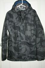 Burton Men's Snowboarding Jacket Size Medium, Gray Camo, Barely Used