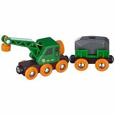 Wooden Toy Clever Crane Wagon Set of 2 Rb33698x2 BRIO
