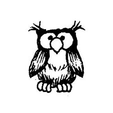 PEDDLER'S PACK RUBBER STAMPS CUTE LITTLE OWL STAMP NEW