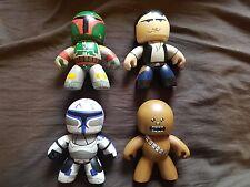 x4 Star Wars Mighty Muggs 5 Inch Figures Han Solo Chewbacca Boba Fett Jango 2008