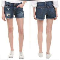 "New Joe's Jeans Womens Mid Rise Blythe Blue Stretch Denim Raw Hem Shorts 29"""